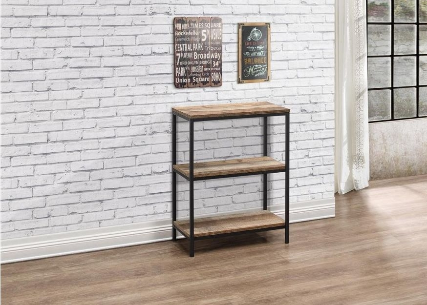the bookcase b n titian gray home office decor depot linon rustic open bookcases furniture
