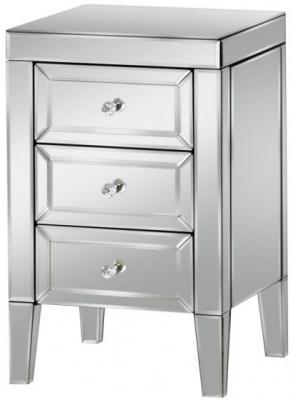 Birlea Valencia Mirrored Bedside Cabinet