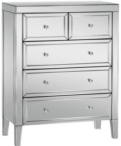 Birlea Valencia Mirrored 3+2 Drawer Chest