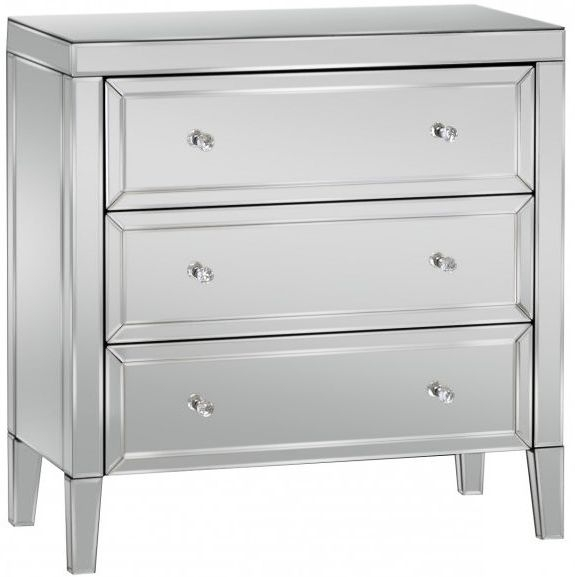 Valencia Mirrored Chest of Drawer - 3 Drawer