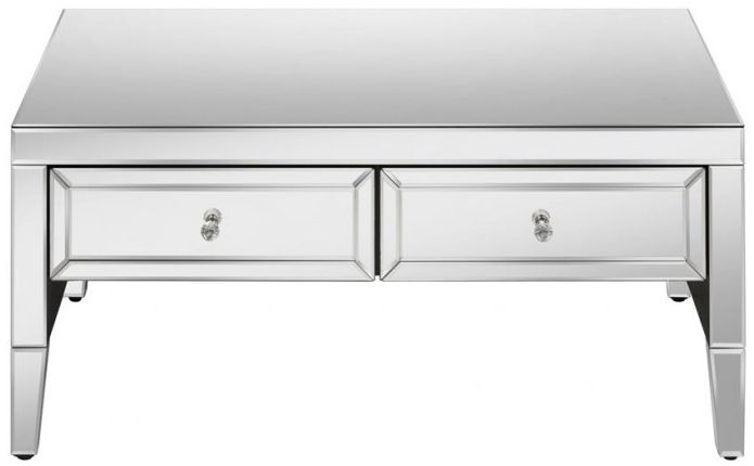 Valencia Mirrored Storage Coffee Table - 2 Drawer