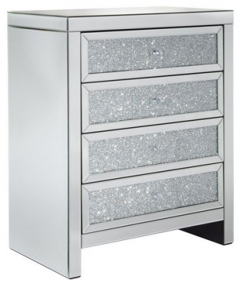 Birlea Vienna Mirrored 4 Drawer Chest