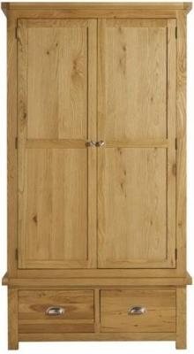 Birlea Woburn Oak 2 Door 2 Drawer Wardrobe