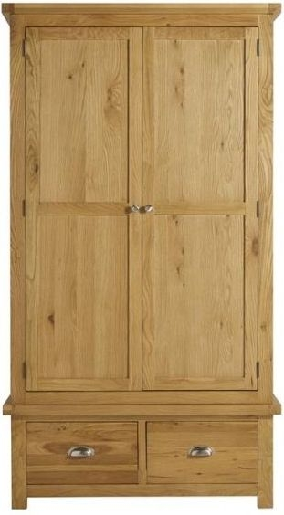 Birlea Woburn Oak 2 Door 2 Drawer Wardrobe