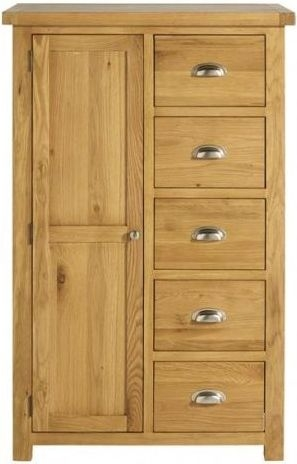 Birlea Woburn Oak 1 Door 5 Drawer Wardrobe