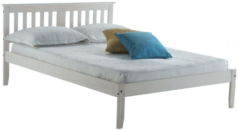 Birlea Salvador White Washed Painted Bed