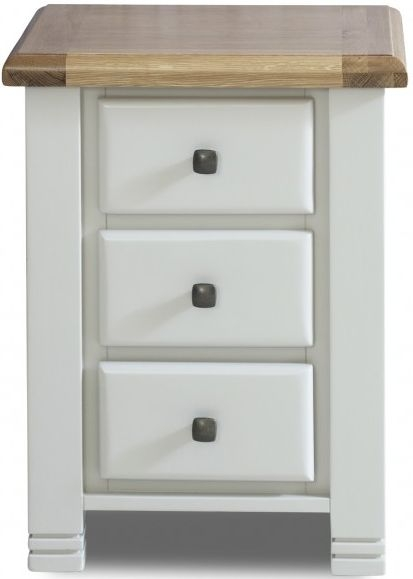 Birlea Woodstock Grey Bedside Cabinet - 3 Drawer