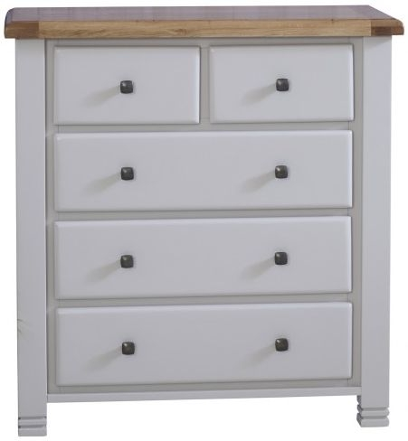 Birlea Woodstock Grey Chest of Drawer - 3+2 Drawer