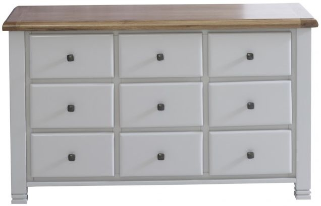 Birlea Woodstock Grey Chest of Drawer - 9 Drawer
