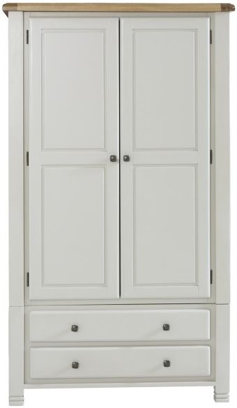 Birlea Woodstock Grey Wardrobe - 2 Door 2 Drawer