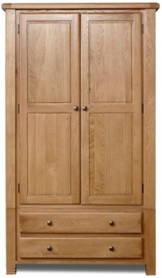 Birlea Woodstock Oak Wardrobe - 2 Door 2 Drawer