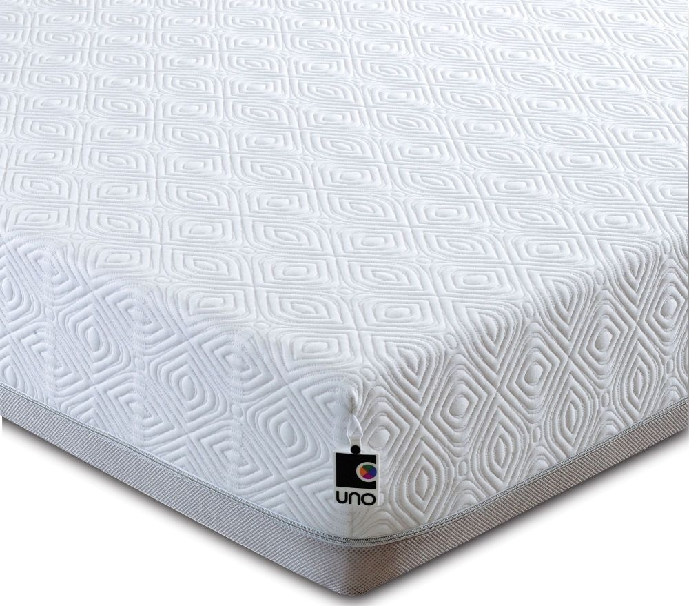 Breasley UNO 1000 Memory Pocket Spring 20cm Deep Mattress with Fresche Technology Standard Quilt - 4ft 6in Double