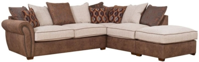 Buoyant Aston Fabric Corner Sofa with Stool