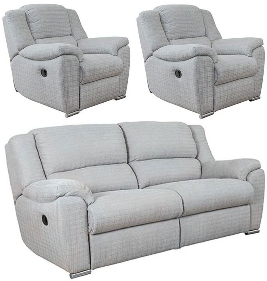 Buoyant Blake 3+1+1 Seater Fabric Recliner Sofa Suite