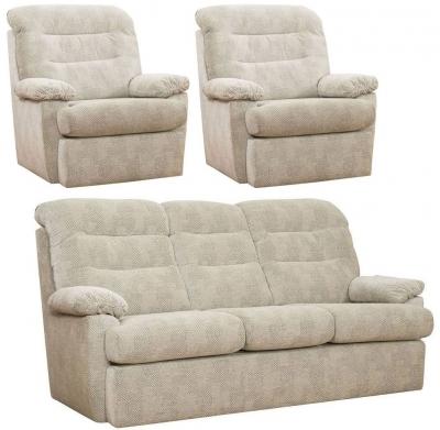 Buoyant Camden 3+1+1 Seater Fabric Sofa