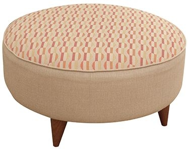 Buoyant Carnival Fabric Footstool