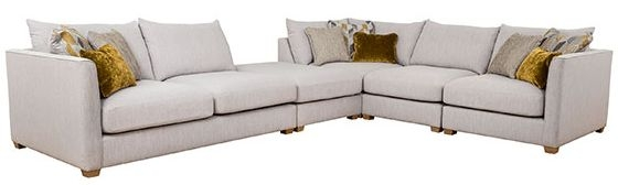 Buoyant Carter Fabric Corner Sofa with Stool