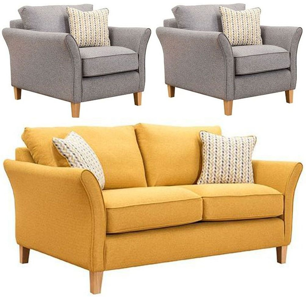 Buoyant Darwin 2+1+1 Seater Fabric Sofa Suite