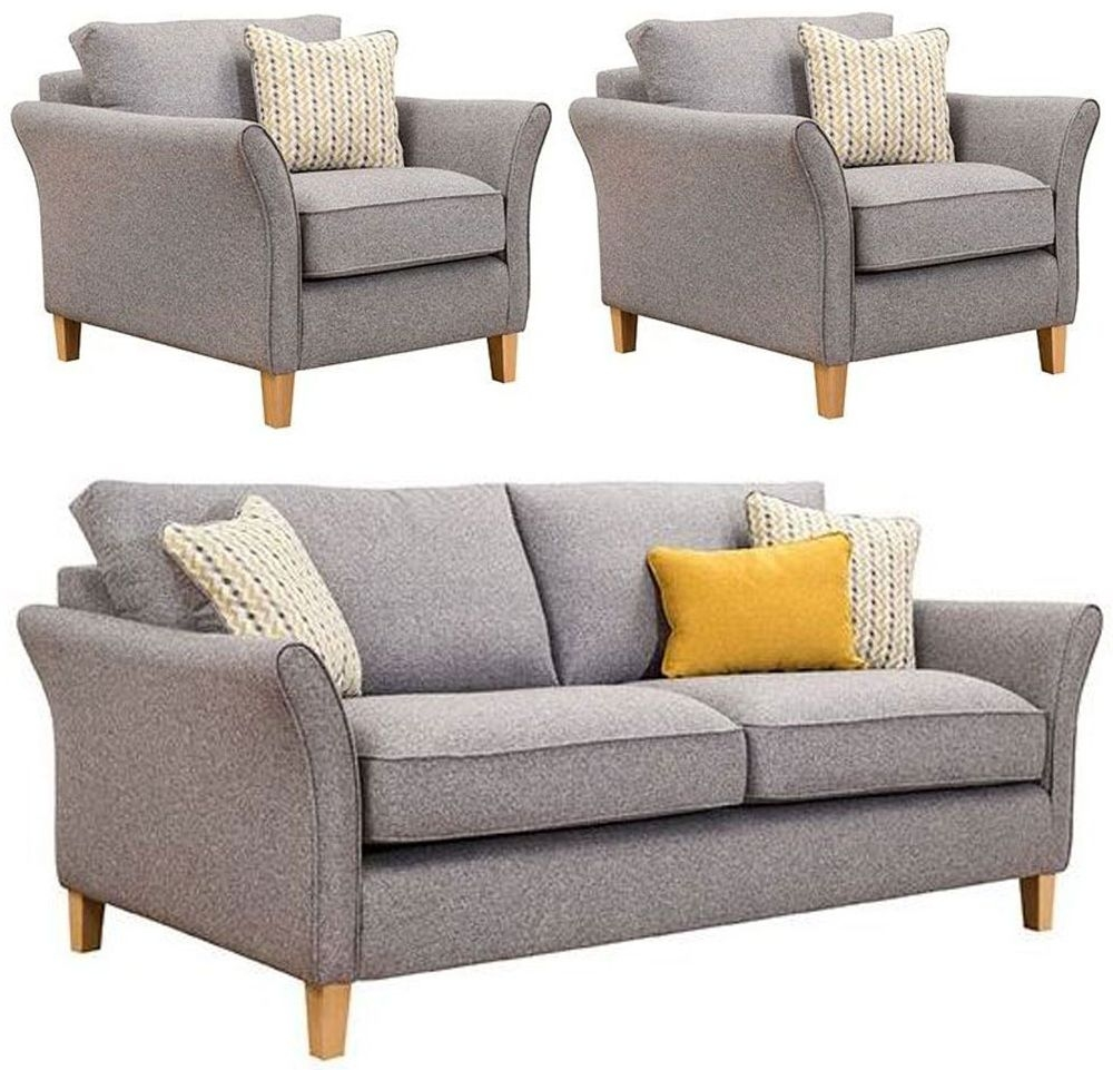 Buoyant Darwin 3+1+1 Seater Fabric Sofa Suite