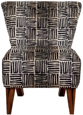 Buoyant George Tobago Black Fabric Accent Chair