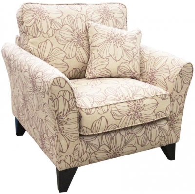 Buoyant Jackson Peony Pink Fabric Accent Chair