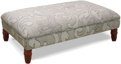 Buoyant Milton Olivia Grey Fabric Footstool