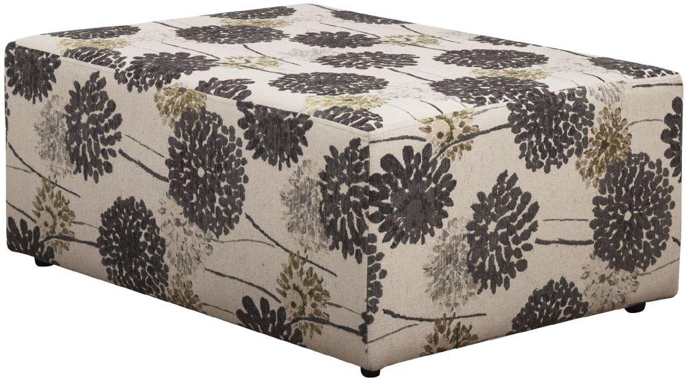 Buoyant Bebo Sunburst Grey Fabric Footstool