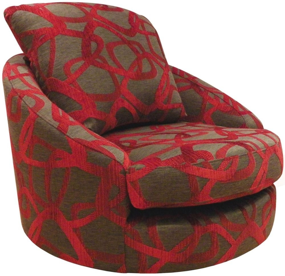 Buoyant Blinx Nicea Scarlet Fabric Swivel Chair