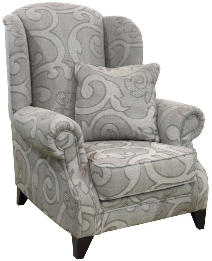 Buoyant Eton Olivia Grey Fabric Wing Chair