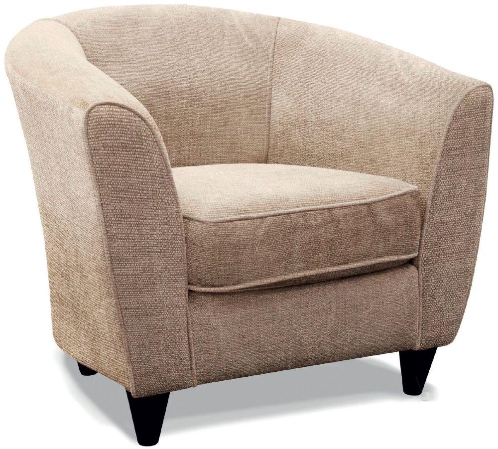 Buoyant Mary Grace Grey Fabric Tub Chair