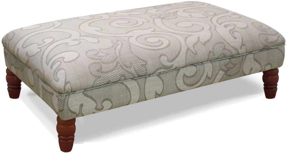 Buoyant Milton Olivia Grey Fabric Footstool