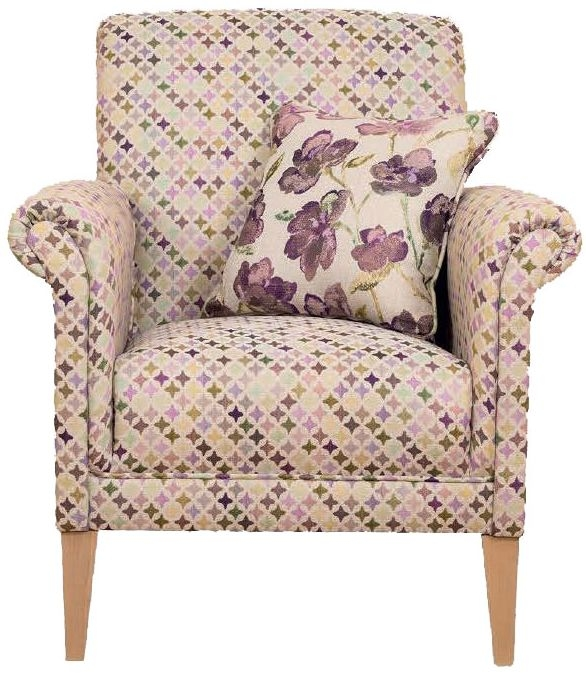 Buoyant York Star Rose Fabric Accent Chair