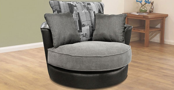 Buoyant Fabric Accent Chairs and Footstool