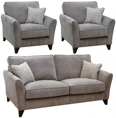 Buoyant Fairfield 3+1+1 Seater Fabric Sofa Suite