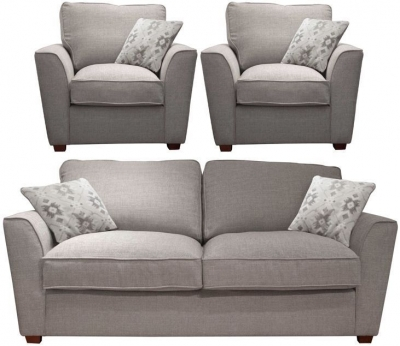 Buoyant Fantasia 3+1+1 Seater Fabric Sofa Suite