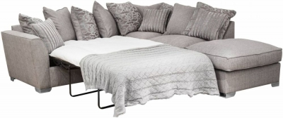 Buoyant Fantasia Fabric Corner Chaise Bed with Stool