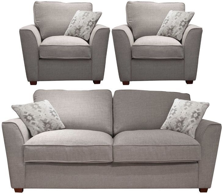 Buoyant Fantasia 3+1+1 Seater Fabric Sofa Suite