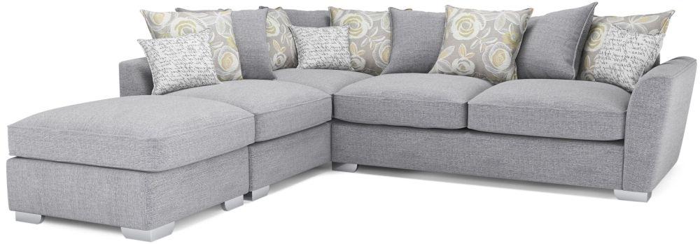 41d4c04fb32 Buy Buoyant Fantasia Fabric Corner Chaise with Stool Online - CFS UK