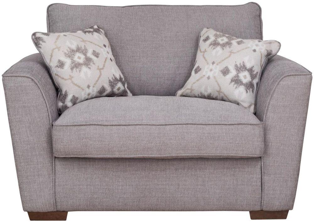 Buoyant Fantasia Fabric Love Chair