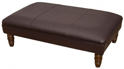 Buoyant Finley Performance Leather Footstool