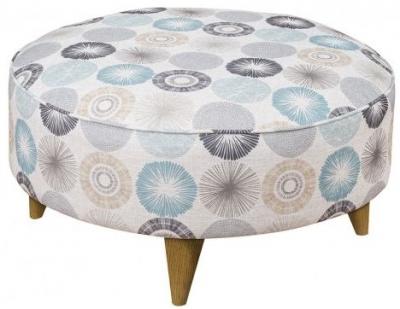Buoyant Kennedy Fabric Footstool