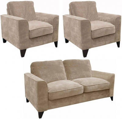 Buoyant Link 3+1+1 Seater Fabric Sofa Suite