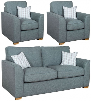 Buoyant Louis 3+1+1 Seater Fabric Sofa Suite