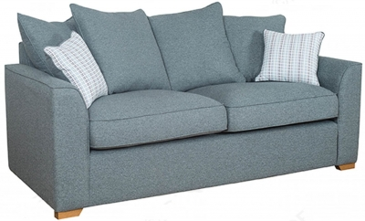 Buoyant Louis 3 Seater Pillow Back Fabric Sofa