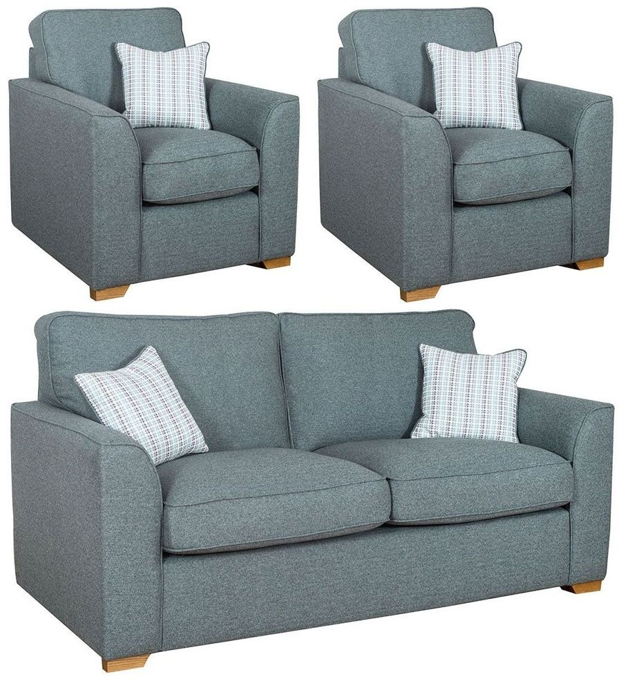 Buoyant Louis 3+1+1 Seater Fabric Sofa Suite