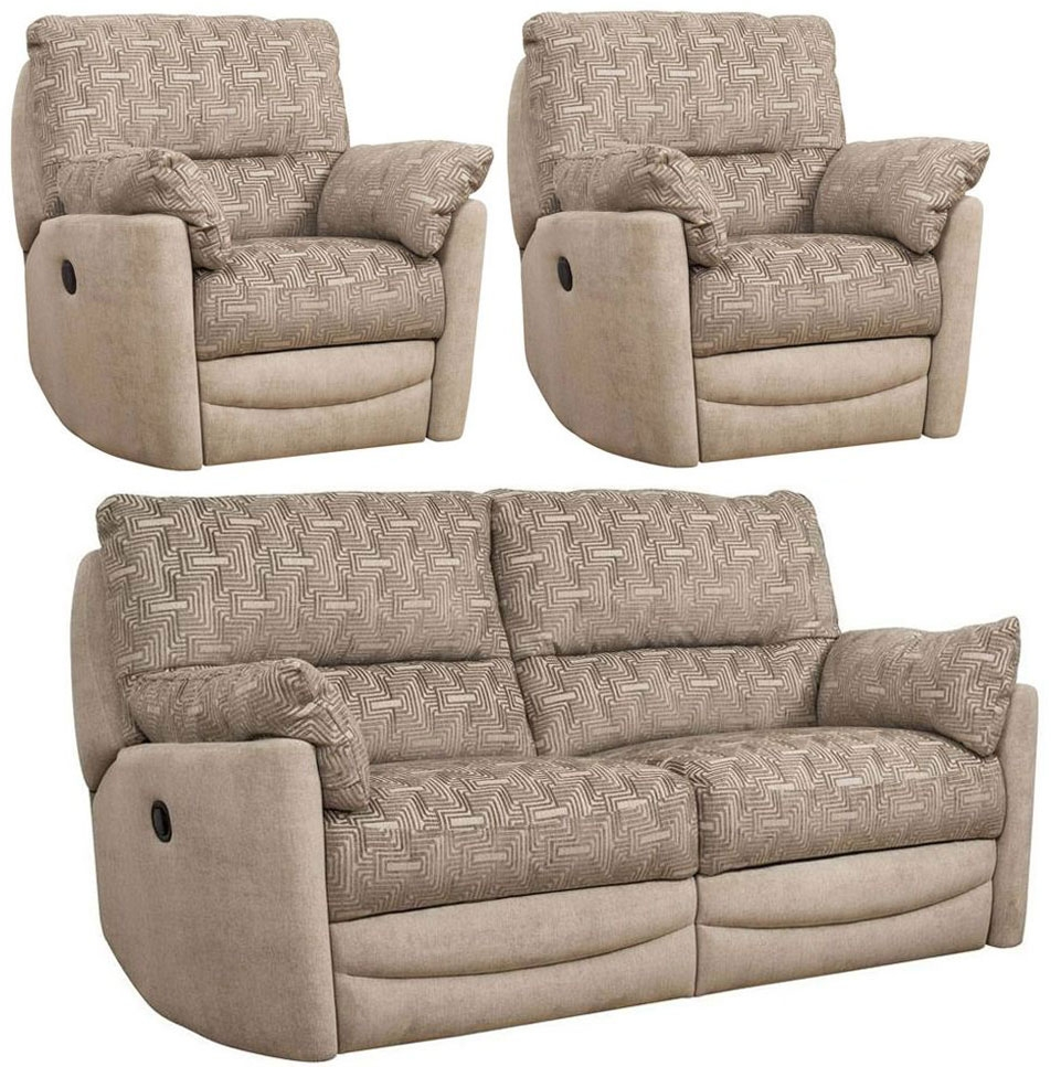 Buoyant Metro 3+1+1 Seater Fabric Recliner Sofa Suite