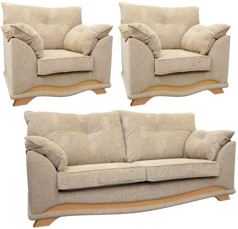 Buoyant Nicole 3+1+1 Fabric Sofa Suite