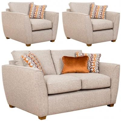 Buoyant Oslo 2+1+1 Seater Fabric Sofa Suite