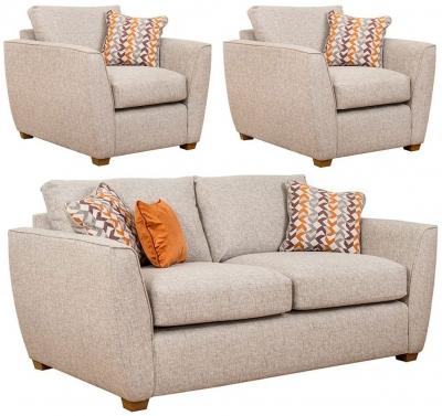 Buoyant Oslo 3+1+1 Seater Fabric Sofa Suite