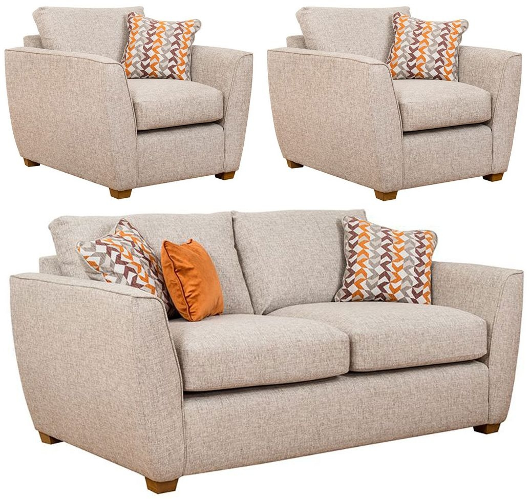 Buoyant Oslo 3+1+1 Seater Fabric Sofa Suite